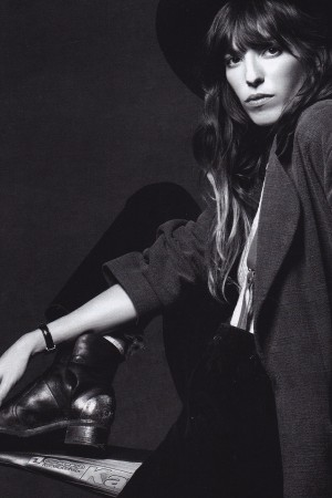 Lou Doillon by Delphine Delain for Sybille Kleber (Make-up)